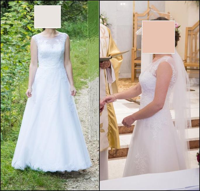 Cena : 625 PLN. Rozmiar : 36,38. Suknia ślubna   Firmy . Opis :