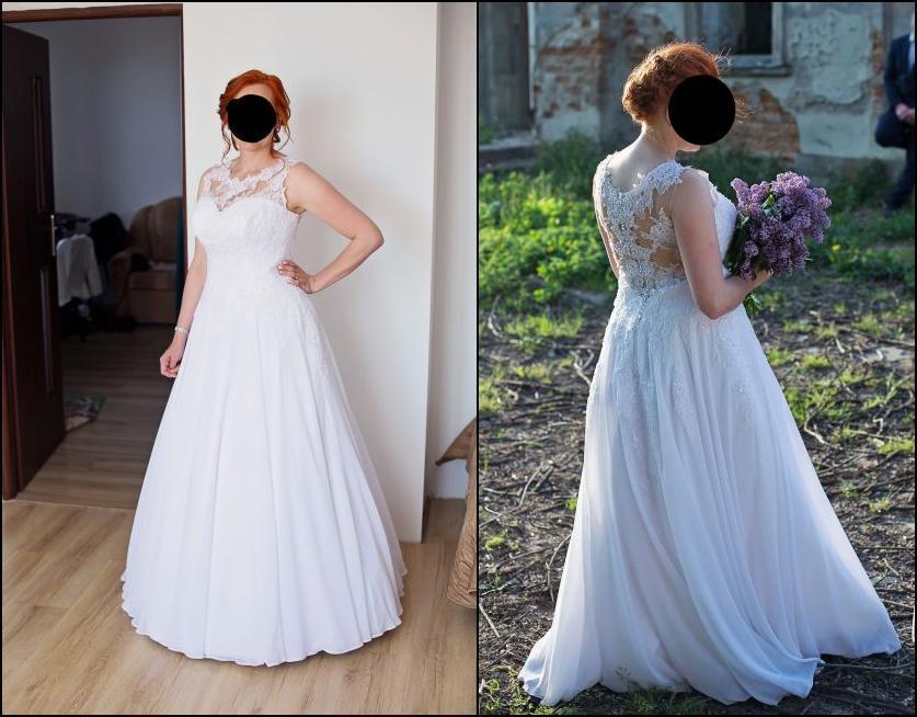 Cena : 1500 PLN. Rozmiar : 40. Suknia ślubna   Firmy . Opis :