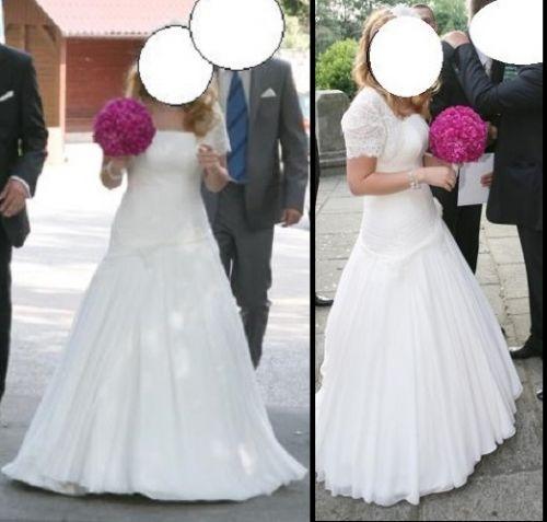 Cena : 1200 PLN. Rozmiar : 38,40,42. Suknia ślubna   Firmy Fulara & Żywczyk. Opis :Suknia ślubna uszyta przez salon sukni ślubnych Fulara & Żywczyk. Jednoczęściowa typu princessa o kolorze śmietankowym. Składa się z kilku warstw, ozdobiona koronką, gorset z tyłu sznurowany. Pięknie dopasowuje się do sylwetki, bardzo wygodna.