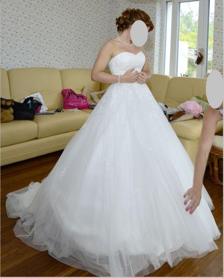 Cena : 1200 PLN. Rozmiar : 34,36. Suknia ślubna   Firmy . Opis :