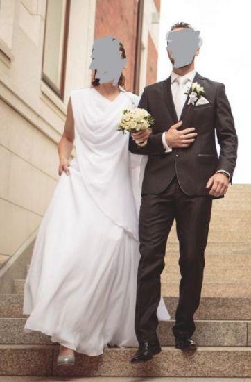 Cena : 700 PLN. Rozmiar : 38,40. Suknia ślubna   Firmy . Opis :