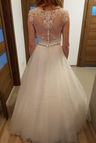 Cena : 1250 PLN. Rozmiar : 38. Suknia ślubna   Firmy . Opis :